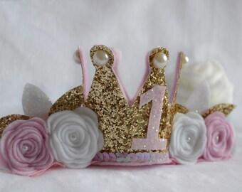 Baby Birthday Mini Crown