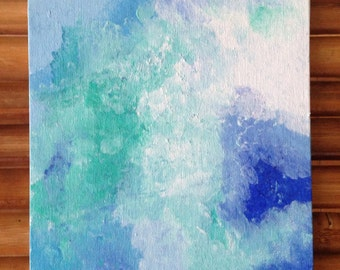 Cloudy Blue Day Canvas