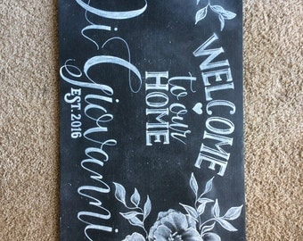 House Warming Welcome Home Chalk Art