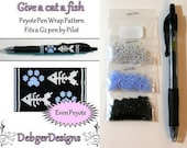 Give a Cat a Fish by Debger Designs beaded pen kit (pattern sold separately)