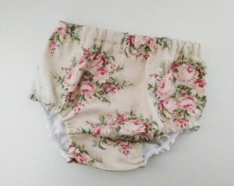 Culotte Flores-Cubrepañal bebé - Diaper cover - Bloomers