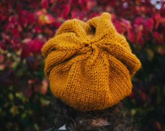 The Great Poofy Hat in Mustard Yellow