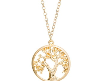 Tree of Life Necklace Gold Silver Minimalist Boho