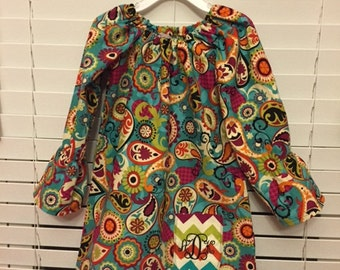 Custom Girls Peasant Dress Sizes 3T to 6