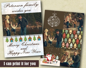 Personalized Christmas Cards Template Photo Christmas Card Christmas Card Photo Holiday Card Printable Christmas Card Photo Christmas Card