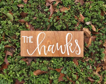 Wood Last Name Sign // Wedding Sign // Engagement Sign