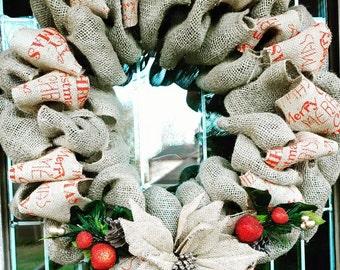 Burlap Merry Christmas - 2