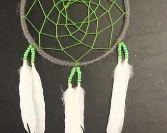 White and Green Dreamcatcher