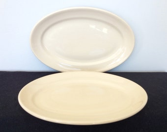 Set of Two Vintage Wallace China Restaurant Platters