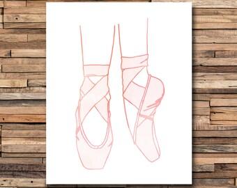 Ballet Print - Ballet Nursery - Ballerina Nursery - Ballerina Decor - Ballet Art - Girl Nursery - Ballerina Print - Ballerina Art - Dancer