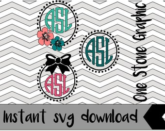 "Shop ""monogram circle svg"" in Patterns & Tutorials"