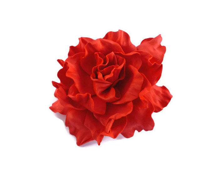 Valentine Rose Hair Clip Red Rose Hair Clip Wedding Rose Hair Clip Flower Hair Clip Rose Floral Hair Clip Red Rose Clip Floral Rose Bridal