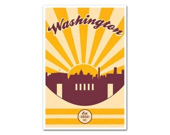 Washington Football Poster with a Vintage Look