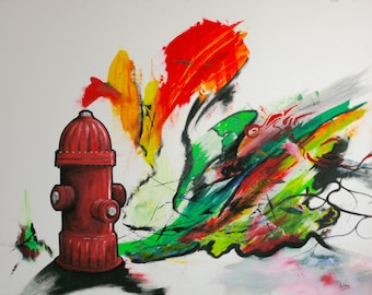 Fire Hydrant A4 print