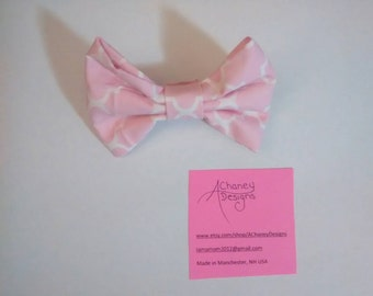Pink Bow Barrette