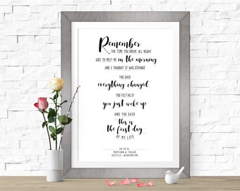 First Day of My Life | Bright Eyes | DIGITAL FILE (Prints Available) | Personalized First Dance Lyrics | Custom Wedding Song