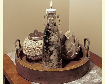 Lantern Oil Lamp Candle - Natural