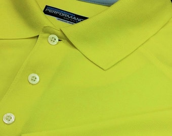 "Roundtree & Yorke ""Performance"" 100% Polyester Golf Polo (Large)"