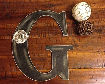 Wooden letter, letter g, wedding letters