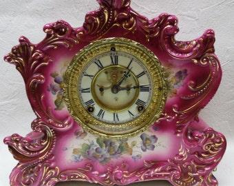 1901 Ansonia Porcelain Clock
