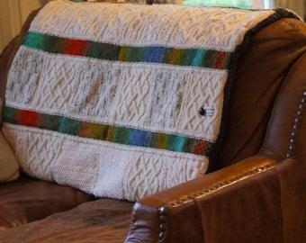 Handmade Woollen Sofa Throw