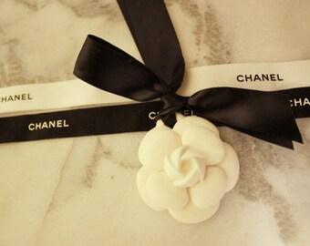 Car Air Freshener / Flower Plaster Air Freshener / Ornament / Perfume / Camelia / Chanel / handmade
