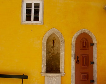 """Photography Print: """"Yellow Palace"""" in Sintra, Portugal"""