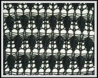 PDF Anleitung für Strickmaschinen Ajourmuster MS02107, pattern, knitting machine
