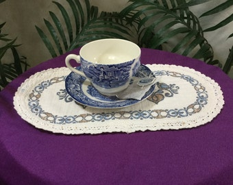 Vintage,Staffordshire Liberty blue, China cup and saucer, Old North Church scene,collectible