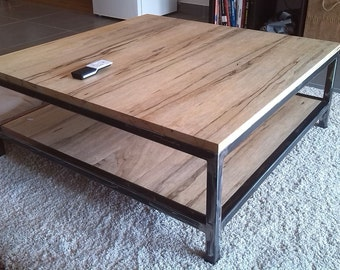 Coffee table wood and metal