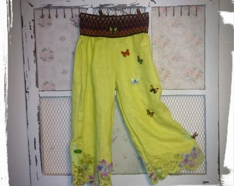 Girls trousers with elasticated waistband