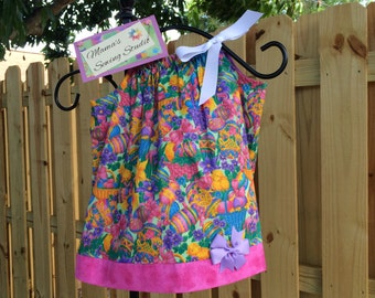 Chickies & Eggs pillowcase sundress 12mo size