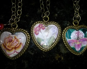Heart Pendants with My Own Artwork