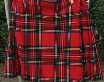 Back-To-School Tartan Kilt Skirt Red Size 8