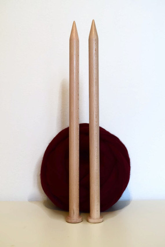 Giant Knitting Needles Uk : Giant knitting needles mm cm length big wooden by