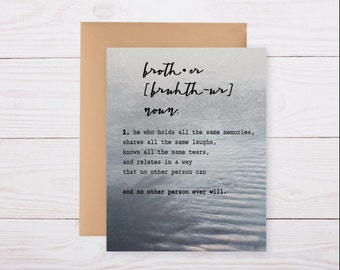 loss of a brother or sister (customizable) - sympathy card, grief card, bereavement card