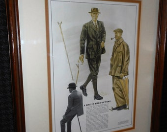 Framed Reproduction of 1940's Esquire Magazine Page