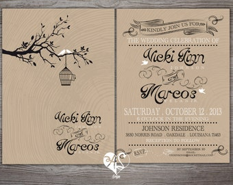 Love Birds - Wedding Invitation