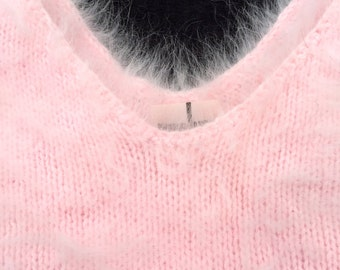 Light Baby Pink Angora Pullover Sweater
