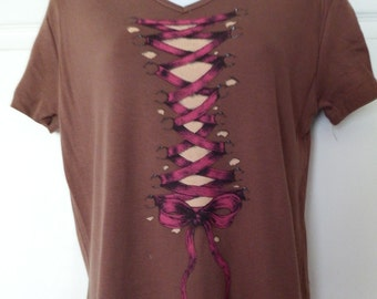Brown Lace up Medium