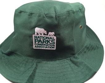 Dark Green National Parks Bucket Hat -  Sz Medium