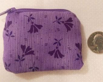 Purple Floral Coin Purse