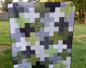 Winter in the Woods Modern Plus Lap Quilt