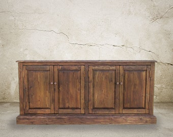 Media Console, Sideboard, Buffet, Reclaimed Wood, Console Table, Entertainment Console, Handmade