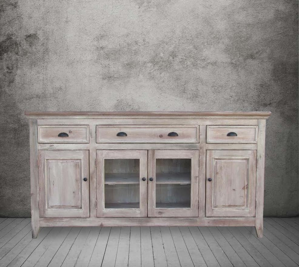 Sideboard Media Console Reclaimed Wood Buffet Table TV -> Wood Tv Sideboard