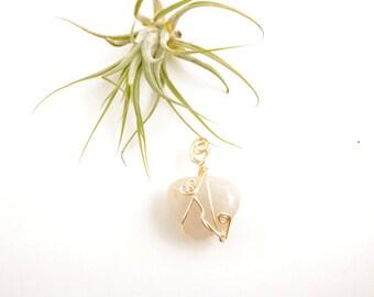 Crystal Quartz Heart Pendant