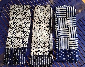 Silk scarves Indigo Natural dye