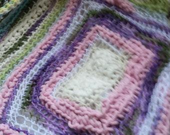 Easter lap blanket,