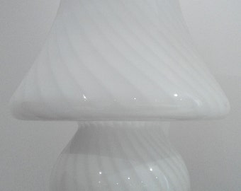 "Venini murano mushroom lamp huge desk lamp murano glass Vistosi 19"" h Made in Italy 1970s"