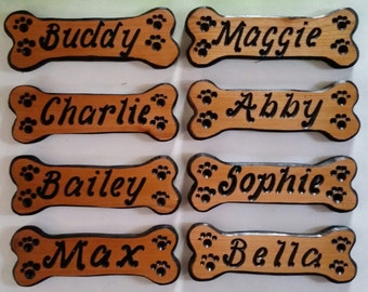 Personalized Dog Bone Signs, Dog Bones, Custom Dog Name Signs, Dog House Signs, Personalized Signs,  Carved Wood Signs,  Dog Bone Add ons